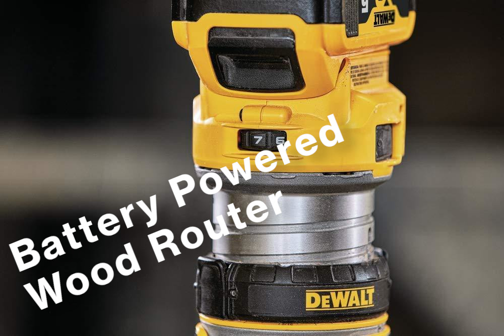battery powered wood router